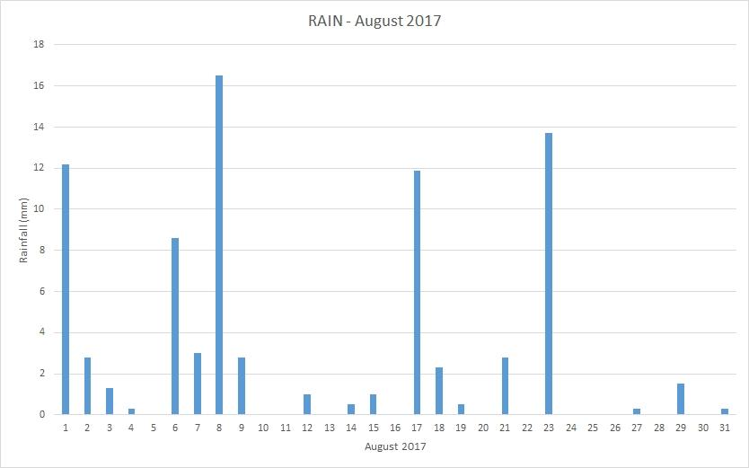 Rainfall August 2017