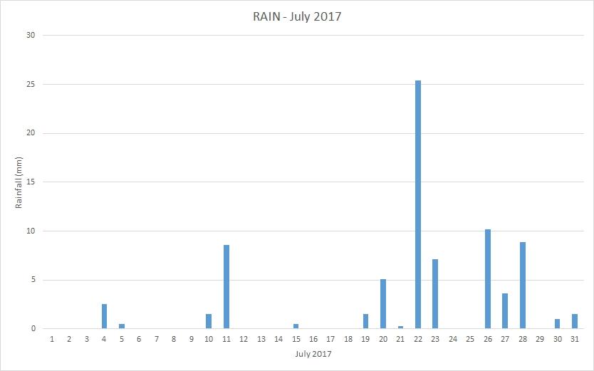 Rainfall July 2017