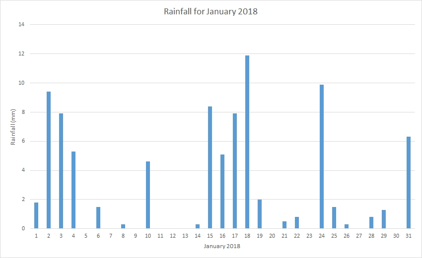 Rainfall January 2018