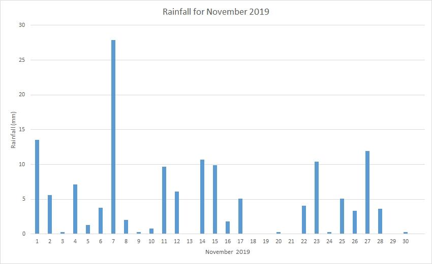 Rainfall November 2019