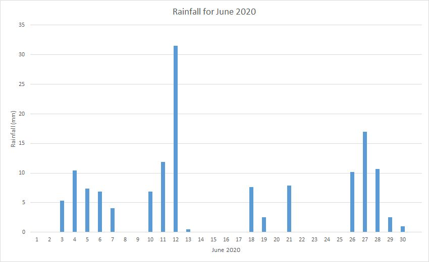 Rainfall June 2020