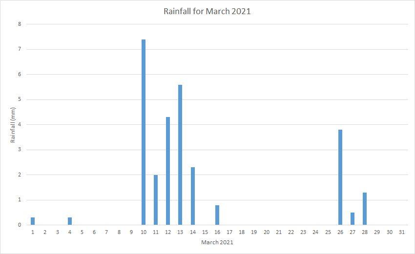 Rainfall March 2021