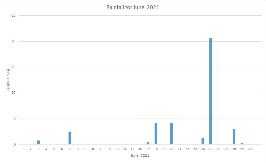 Rainfall June 2021